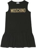 Moschino Kids Sequined stretch-cotton dress