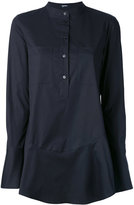Jil Sander Navy flared hem shirt - women - Cotton/Spandex/Elastane - 38