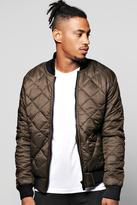 Boohoo Quilted Padded Bomber Jacket