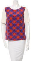 Tibi Printed Silk Blouse