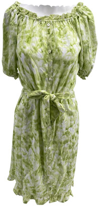 Faithfull The Brand Green Cotton Dresses