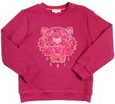 Kenzo Tiger Patch Cotton Sweatshirt