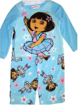 Nickelodeon Baby Girls Sky Blue Dora The Explorer Print 2 Pc Pajama Set 24M