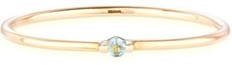 Otiumberg Swiss Blue Topaz Bamboo Ring in Gold