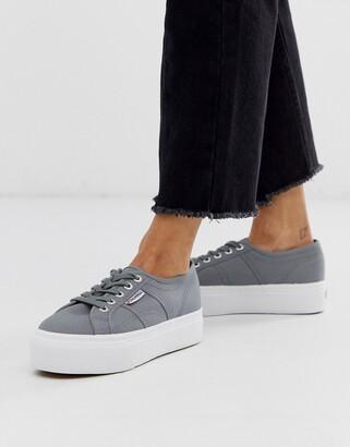 Superga 2790 flatform 4cm trainers in grey