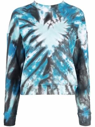 MAISIE WILEN Tie-Dye Print Cotton Sweatshirt