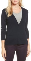Women's Halogen V-Neck Merino Wool Cardigan