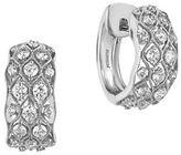 Effy Pave Classica Diamond and 14K White Gold Huggie Hoop Earrings, 0.81 TCW