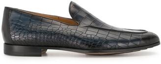 Magnanni Crocodile-Embossed Leather Loafer