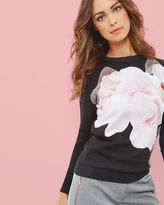 ASTEER Porcelain Rose print sweater