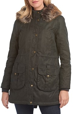 Barbour Homeswood Hooded Waxed Cotton Coat