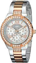 GUESS GUESS? Women's U0111L4 White Stainless-Steel Analog Quartz Watch
