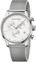 Calvin Klein city Men's Swiss Chronograph Stainless Steel Mesh Bracelet Watch 43mm K2G27126