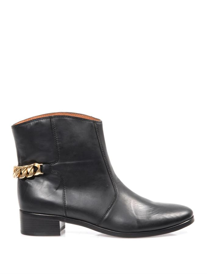 See by Chloe Chain detail leather ankle boots