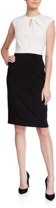 Maggy London Color Blocked Sheath Dress