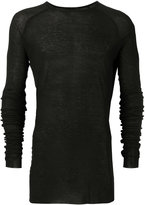 Haider Ackermann long sleeved t-shirt with round neck - men - Cotton/Nylon/Rayon - S