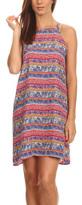Blvd Blue & Pink Floral Stripe Sleeveless Shift Dress