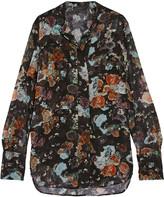 Belstaff Lissa layered printed silk-chiffon blouse