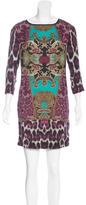 Just Cavalli Mixed Print Mini Dress