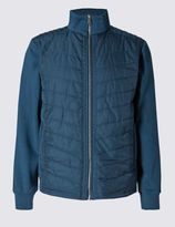 Marks and Spencer Cotton Rich Tailored Fit Quilted Jacket