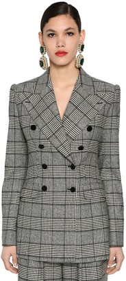 Dolce & Gabbana Double Breast Prince Of Wales Jacket