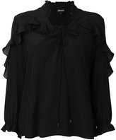 Just Cavalli sheer ruffled shirt - women - Silk - 40