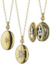 Monica Rich Kosann 18k Gold Diamond Star Locket Necklace
