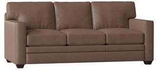 Wayfair Custom Upholstery Wayfair Custom UpholsteryTM Carleton Leather Sofa Bed Body Fabric: Bronx Sod