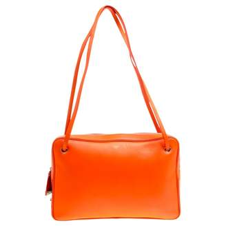 Celine Orange Leather Handbags