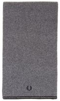 New Mens Fred Perry Grey Twin Tipped Lambswool Scarf Scarves