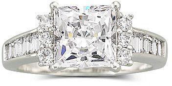 JCPenney DiamonArt® Cubic Zirconia Engagement Ring