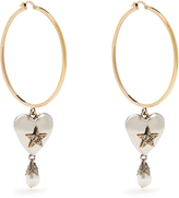 Alexander McQueen Heart Locket hoop earrings