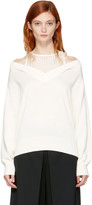 Alexander Wang Ivory Layered V-neck Pullover
