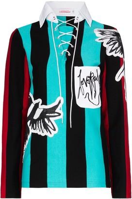 Charles Jeffrey Loverboy Magpie striped jumper