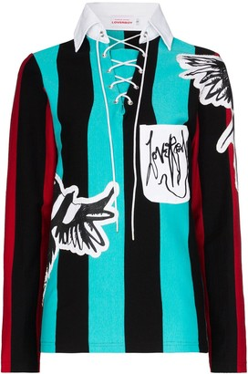 Charles Jeffrey Loverboy Magpie striped jumper