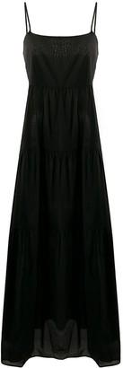 Emporio Armani Tiered Maxi Dress