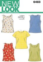 New Look 6483 Size A Misses' Tops Sewing Pattern, Multi-Colour