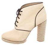 Loeffler Randall Raffia Lace-Up Booties