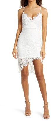 Lulus Flirting with Desire Floral Lace Cocktail Dress