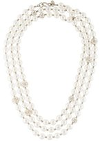 Kenneth Jay Lane Faux Pearl & Crystal Bead Strand
