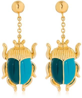 Aurélie Bidermann Elvira Beetle Earrings