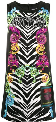 Versace Mixed-Print Sleeveless Dress