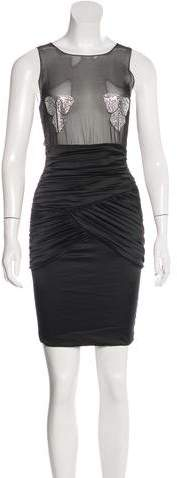 Thomas Wylde Embellished Silk Dress