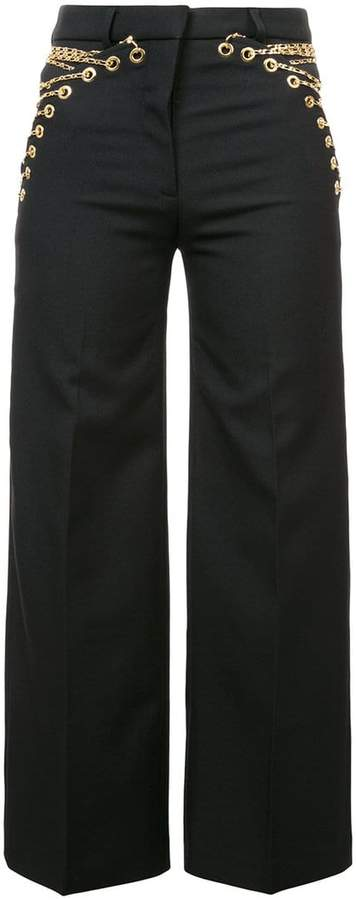 Y/Project Y / Project chain lace detailed trousers