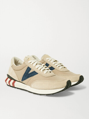 Visvim Attica Suede-Trimmed Nylon Sneakers