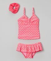 Sweet & Soft Pink Hearts Tankini & Scrunchie - Infant