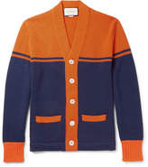 Gucci Embroidered and Appliquéd Wool Cardigan
