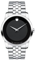 Movado 40mm Museum Classic Watch, Silver/Black
