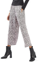 Topshop Jacquard Wide Leg Crop Trousers