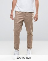 Asos TALL Tapered Chinos In Stone